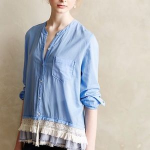 Holding Horses Larkin Lace Button Down Top